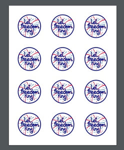 Freedom Ring Package Tags - Dots and Bows Designs