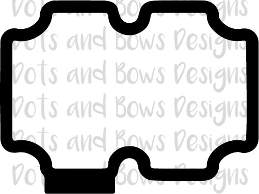 Kerrie Plaque Cutter - Dots and Bows Designs