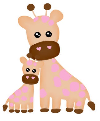 Mama Giraffe Cutter - Dots and Bows Designs