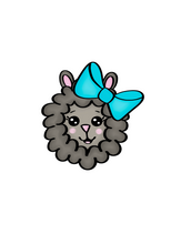 Load image into Gallery viewer, Girl Sheep Head Cutter - Dots and Bows Designs