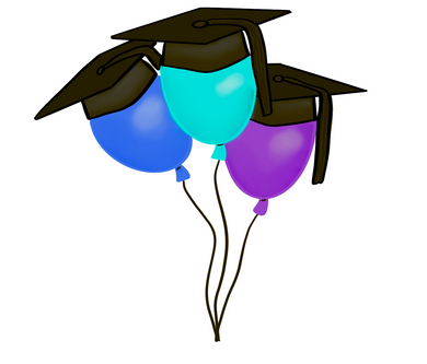 Grad Balloons STL Cutter File - Dots and Bows Designs