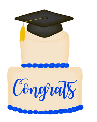 Grad Cake Cutter - Dots and Bows Designs