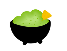 Load image into Gallery viewer, Guac Cutter - Dots and Bows Designs