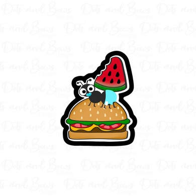 Hamburger Ant Cutter - Dots and Bows Designs