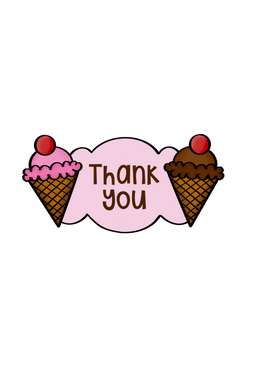 Ice Cream Cone Plaque Cutter - Dots and Bows Designs