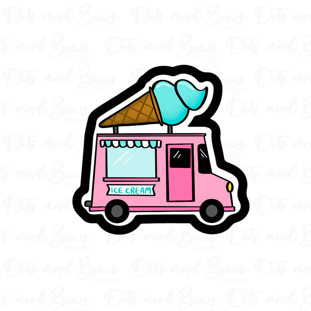 Ice Cream Truck STL Cutter File - Dots and Bows Designs