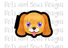 Load image into Gallery viewer, Puppy Face Cutter - Dots and Bows Designs
