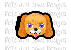 Puppy Face Cutter - Dots and Bows Designs