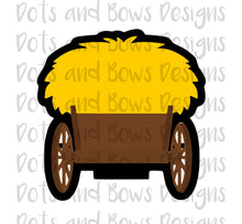 Load image into Gallery viewer, Hay/Grass/Evergreen Wagon Cutter - Dots and Bows Designs