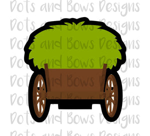 Hay/Grass/Evergreen Wagon Cutter - Dots and Bows Designs