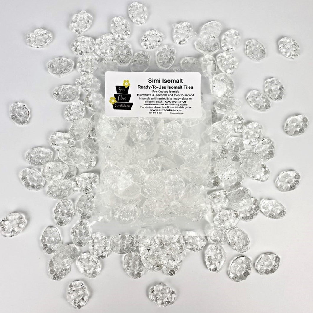Simi Cakes Clear Isomalt Gems - Dots and Bows Designs