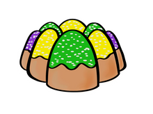Load image into Gallery viewer, King Cake Cutter CC - Dots and Bows Designs