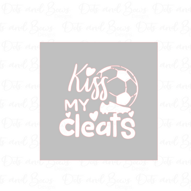 Kiss My Cleats 2-piece Stencil - Dots and Bows Designs