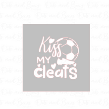 Load image into Gallery viewer, Kiss My Cleats 2-piece Stencil Digital Download CC - Dots and Bows Designs