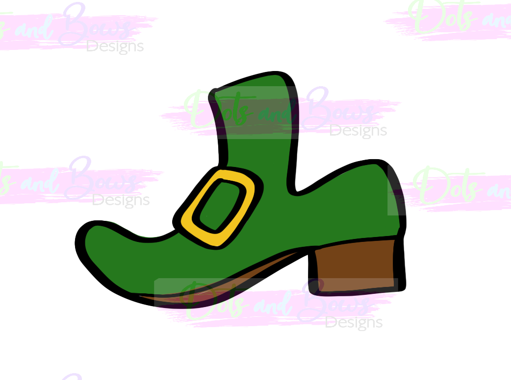 Leprechaun Shoe Cutter - Dots and Bows Designs