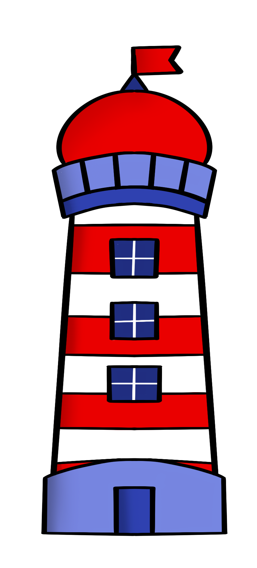 Lighthouse Cutter - Dots and Bows Designs