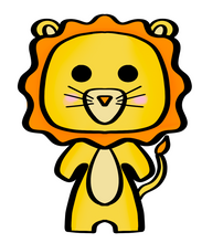 Load image into Gallery viewer, Lion Baby Cutter - Dots and Bows Designs