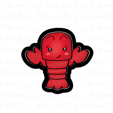 Chubby Lobster STL Cutter File - Dots and Bows Designs