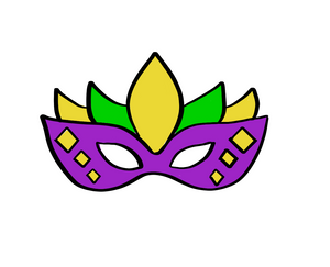 Mardi Gras Mask Cutter CC - Dots and Bows Designs