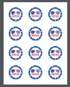 'merica Package Tags - Dots and Bows Designs