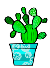 Load image into Gallery viewer, Multi Cactus Cutter - Dots and Bows Designs
