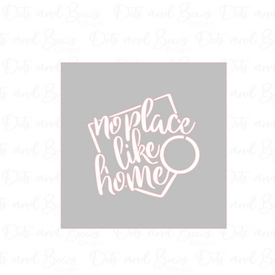 No Place Like Home Stencil Digital Download CC - Dots and Bows Designs