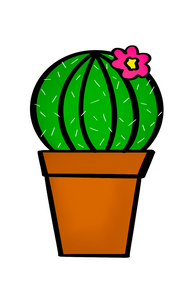 Potted Cactus Cutter - Dots and Bows Designs