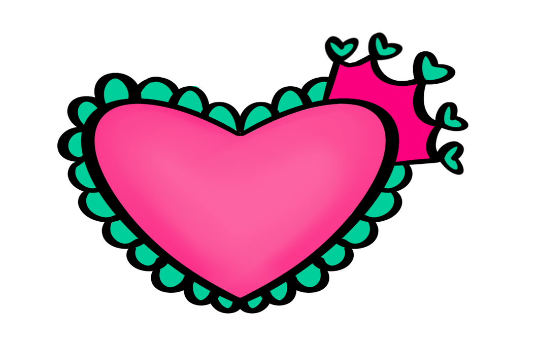 Princess Heart Cutter - Dots and Bows Designs