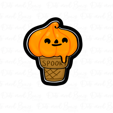 Tall Pumpkin Cone STL Cutter File - Dots and Bows Designs
