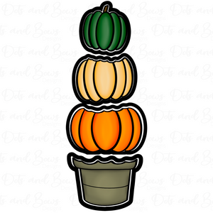 Stacked Pumpkins Platter Cutter Set