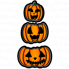 Load image into Gallery viewer, Stacked Pumpkins Platter Cutter Set - Dots and Bows Designs
