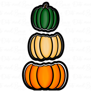 Stacked Pumpkins Platter Cutter Set - Dots and Bows Designs