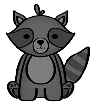 Load image into Gallery viewer, Raccoon Cutter - Dots and Bows Designs