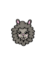 Load image into Gallery viewer, Sheep Head Cutter - Dots and Bows Designs