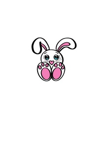Sitting Bunny Cutter - Dots and Bows Designs