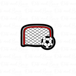 Soccer Net and Ball Cutter - Dots and Bows Designs