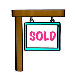 Sold Sign STL Cutter File - Dots and Bows Designs