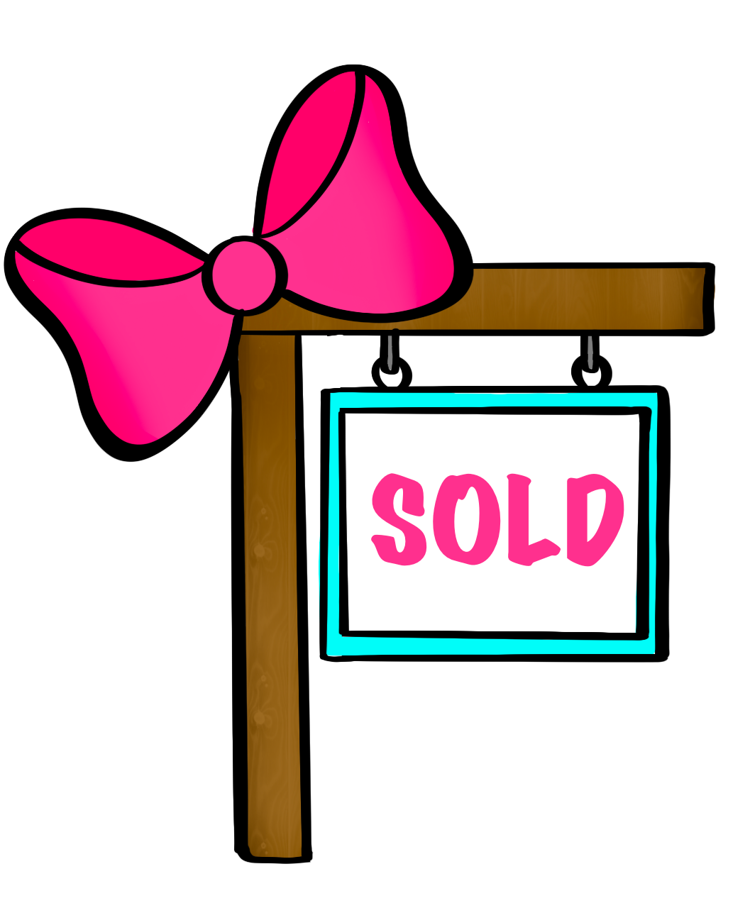 Bow Sold Sign Cutter - Dots and Bows Designs