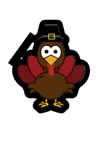 Tom Turkey Cutter - Dots and Bows Designs