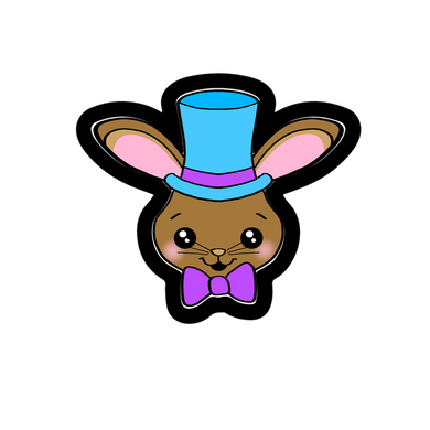 Top Hat Bunny Face Cutter