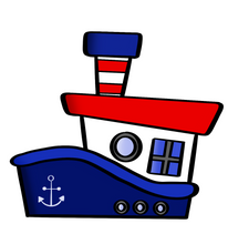 Load image into Gallery viewer, Tug Boat Cutter - Dots and Bows Designs
