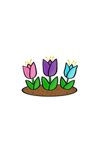Load image into Gallery viewer, Tulips Cutter - Dots and Bows Designs
