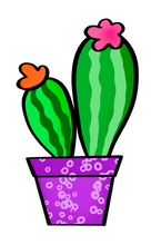 Load image into Gallery viewer, Two Cacti STL Cutter File - Dots and Bows Designs