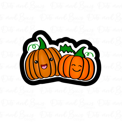 Pumpkin Pals STL Cutter File - Dots and Bows Designs