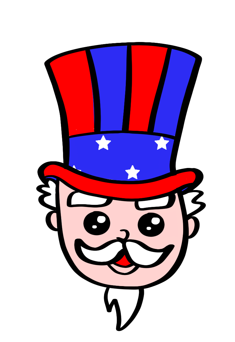 Uncle Sam Cutter - Dots and Bows Designs