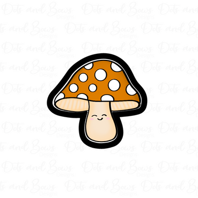 Wide Mushroom STL Cutter File - Dots and Bows Designs