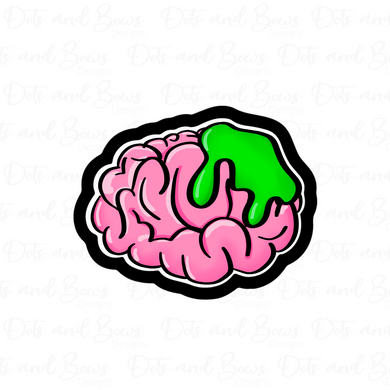 Zombie Brain STL Cutter File - Dots and Bows Designs