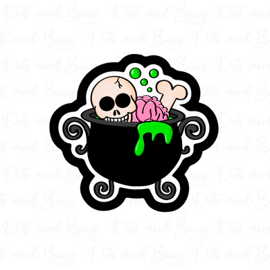 Zombie Cauldron STL Cutter File - Dots and Bows Designs