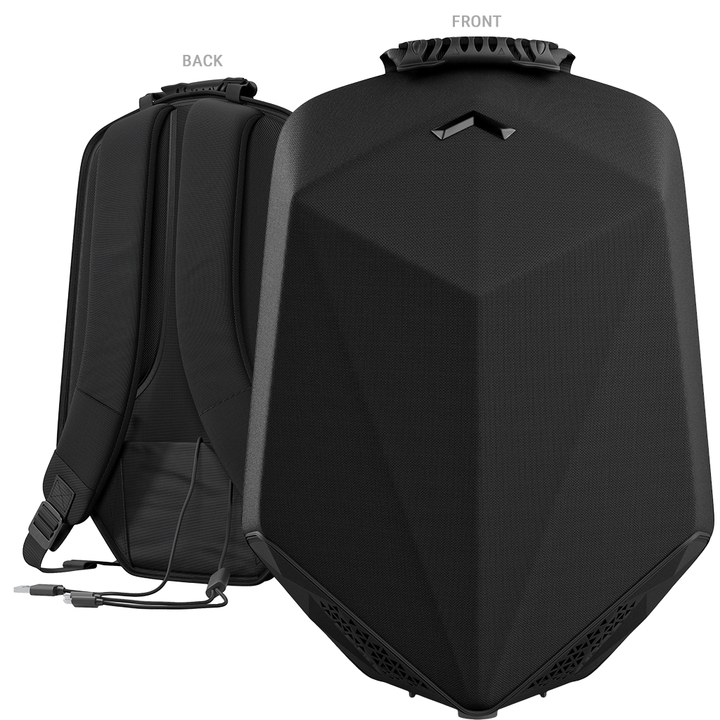 Speaker Backpack Front & Back View