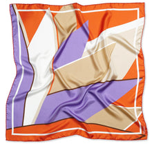 Load image into Gallery viewer, Modern Fleur Silk Scarf Womens Square Silk Twill Scarves